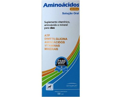 Aminoácidos Vit Oral 50ml para Cães