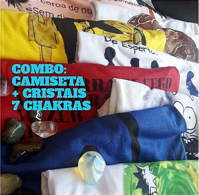 1 - COMBO CAMISETA + CRISTAIS 7 CHAKRAS