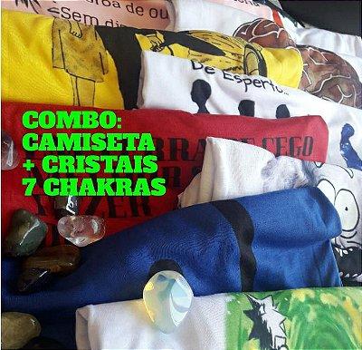 2 - COMBO CAMISETA + CRISTAIS 7 CHAKRAS