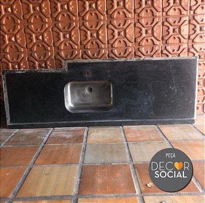 TAMPO DE GRANITO COM CUBA PARA COZINHA COM CUBA TRAMONTINA (Disponibilidade: 1 Peça)