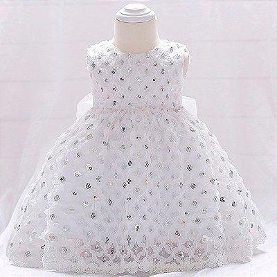 vestido festa de gala de lantejoulas para batizado ou ano novo / reveillom