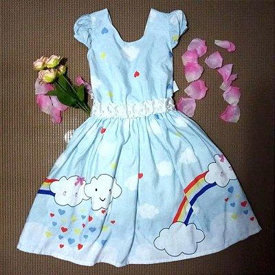 Vestido infantil chuva de benção