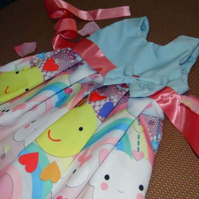Vestido de Festa Infantil Temática Chuva de Benção PP