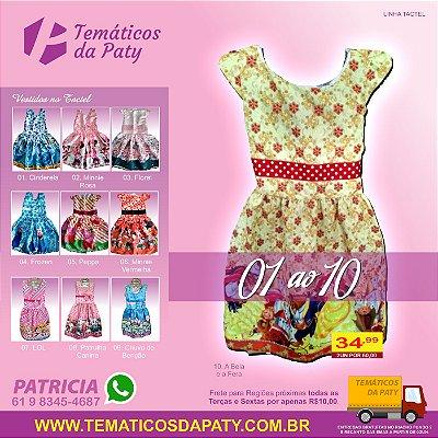 Vestidos de Personagens no Tactel (Temas do 01 ao 10)