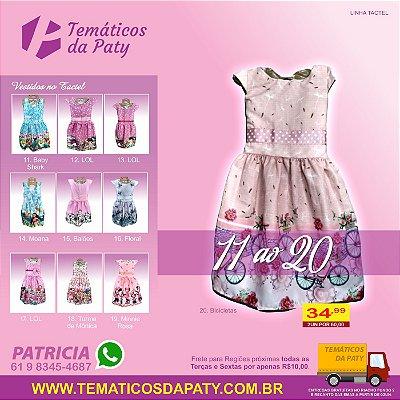 Vestidos de Personagens no Tactel (Temas do 11 ao 20)