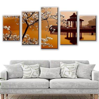 Quadro Decorativo China 5 Partes 115x50cm