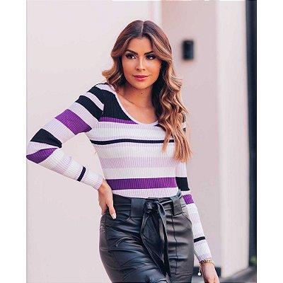 Blusa Tricot Canelada Ave Rara Fashion