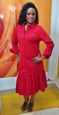 Vestido Camisa Races Car - Jeanseria - Vermelho