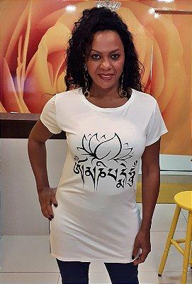 T-Shirt feminina longa Silk Mantra