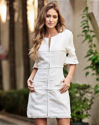 Vestido Curto Diana Ave Rara Off White