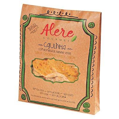 Cajulinha - biscoito de biomassa, castanha de cajú e cebolinha