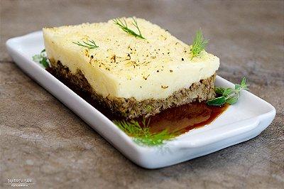 Escondidinho de Carne Seca e Purê Mandioca