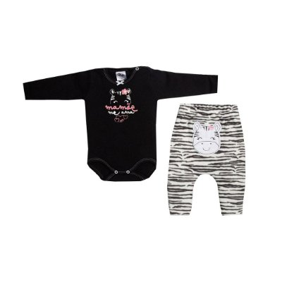Body Mamãe C/ Saruel  Soft Zebra