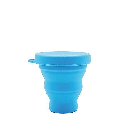 Copo Retrátil de Silicone 200 ml - Azul