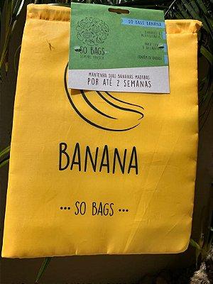 Saco Ecológico Para Conservar Bananas na Geladeira - So Bags Banana