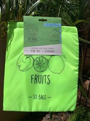 Saco Ecológico Para Conservar Frutas na Geladeira - So Bags Fruits