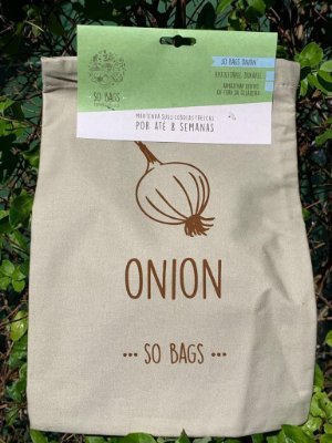 Saco Reutilizável Para Guardar Cebola na Geladeira - So Bags Onion