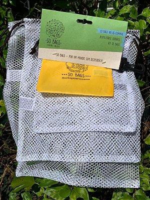 Saquinhos Reutilizáveis - Kit So Bag Vai às Compras (3 unidades)