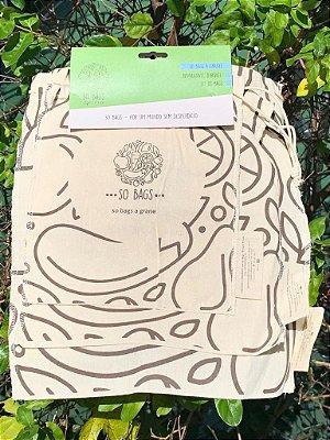 Sacos Reutilizáveis Para Compras a Granel - So Bags (Kit 3 Unidades)