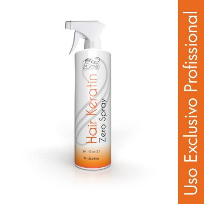 Escova Progressiva para Cabelos Finos Hair Keratin Spray 1000ml