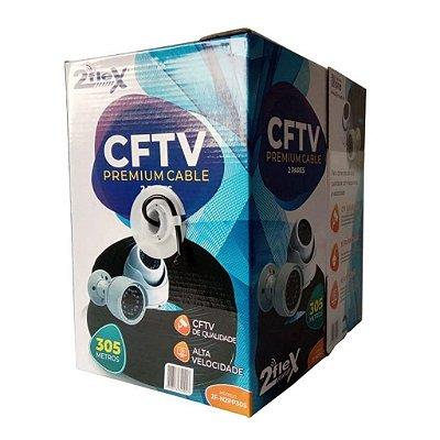 Cabo De Rede Premium Cftv (4 Pares) 2flex