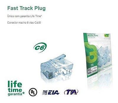 CONECTOR FAST TRACK GTS CAT6 PCT 20UN
