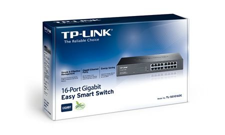 TP-LINK HUB SWITCH 16P TL-SG1016DE 10/100/1000 INTELIGENTE