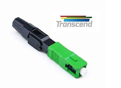 Conector Fibra Optica Sc/apc Verde Transcend Pacote 10 peças