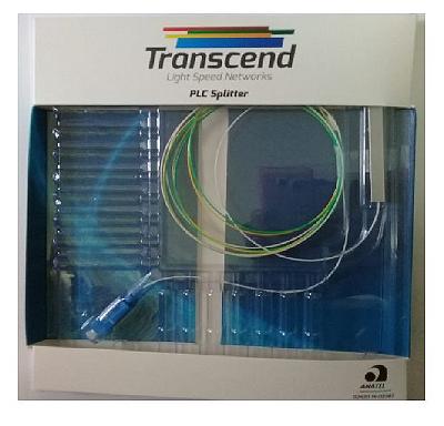 SPLITTER 1x2 COM CONECTORES SC/UPC TRANSCEND HOMOLOGADO