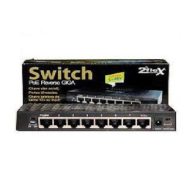 Switch 8 Portas Gigabit Poe Reverso 2flex 5 Á 48v Homologado