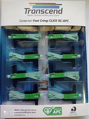 Conector Fibra Optica Click Sc/apc Transcend  10