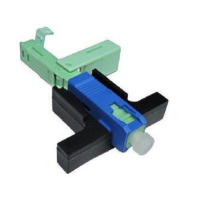 Conector Fibra Optica Click 2flex Sc/Upc 10un + Gabarito