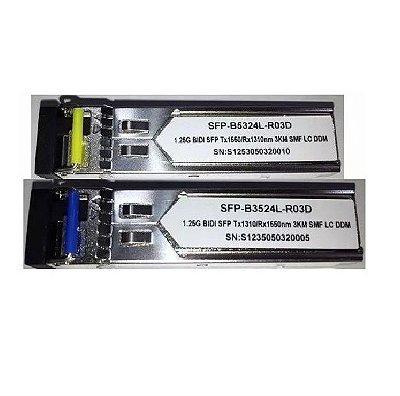 PAR SFP 1.25G 03KM BIDI LC DDM TX1310-RX1550NM B3524L\TX1550-RX1310NM B5324L-R0