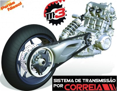 Correia Gates Polychain Yamaha Midnight Star XVS950/Vulcan 900 (opcional)