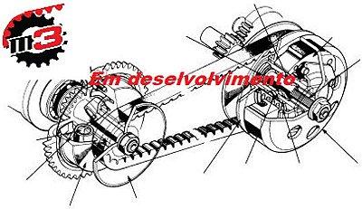 Kit Relação Correia Dentada -  Kawasaki Vulcan 900 Custom - Opcional