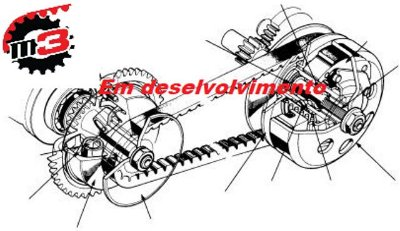 KIT Relação Correia Amazonas 1600 cc