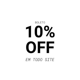 10% OFF no Boleto