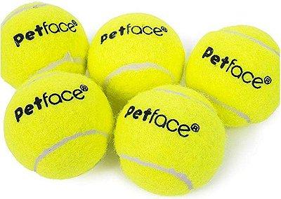 Mini Bolas de Tênis 4cm Jogo com 5 unid. - Cod. 30239