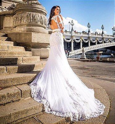 Vestido noiva Renda cristal
