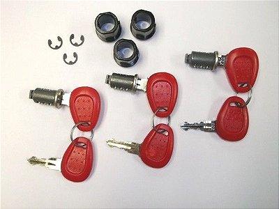 Kit com 3 miolos de chave - mesmo segredo - para baus Givi