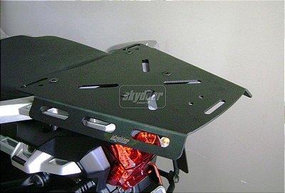Bagageiro em alumínio para Triumph Tiger Explorer 1200 - Preto