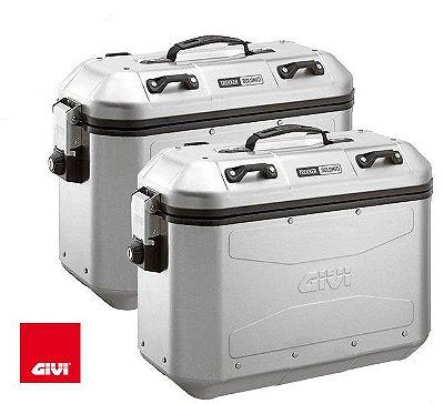 Baú Givi 36L Mala Lateral - Linha Trekker Dolomiti - Aluminio - Par