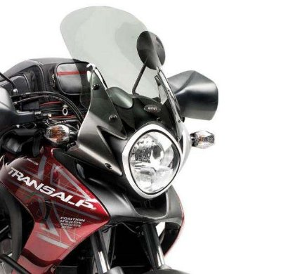 Bolha Alta - Pára-Brisa GIVI para Honda Transalp 700 - FUMÊ