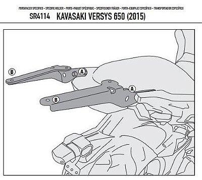Rack Givi - Suporte - Bagageiro traseiro para Kawasaki Versys 650 (nova)
