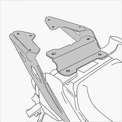 Rack Suporte/Ferragem para base de baú GIVI - para Yamaha MT09 Tracer