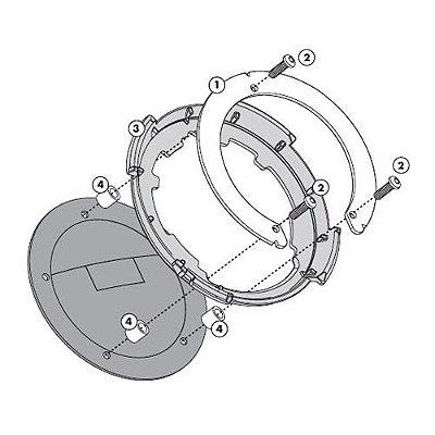 Flange de encaixe e fixação de Bolsas Givi TankLock - para KAWASAKI Versys 650 nova
