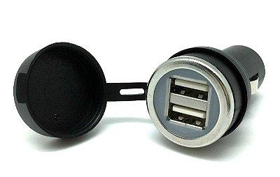 Adaptador de Tomada 12V para duplo USB - padrão normal