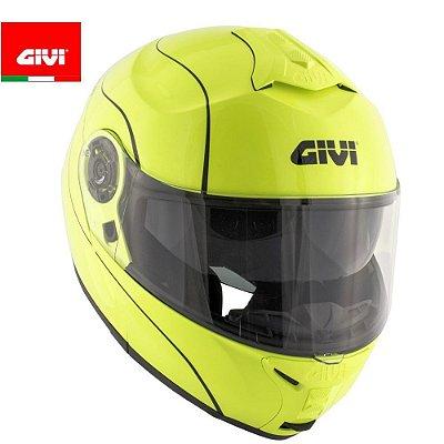 Capacete Givi X21 Modular (escamoteável) Amarelo Fluorescente