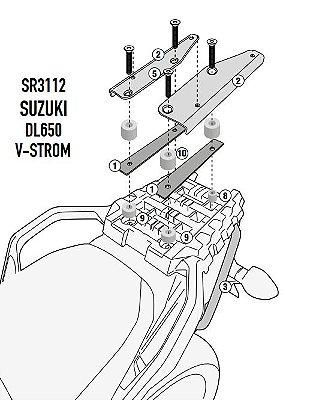 Suporte para baú GIVI SR3112 - para Vstrom 650 e 1000 nova XT