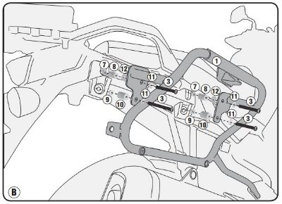 Suporte Lateral de Baús V35 - GIVI para Suzuki DL650 Vstrom (novas - 2019)